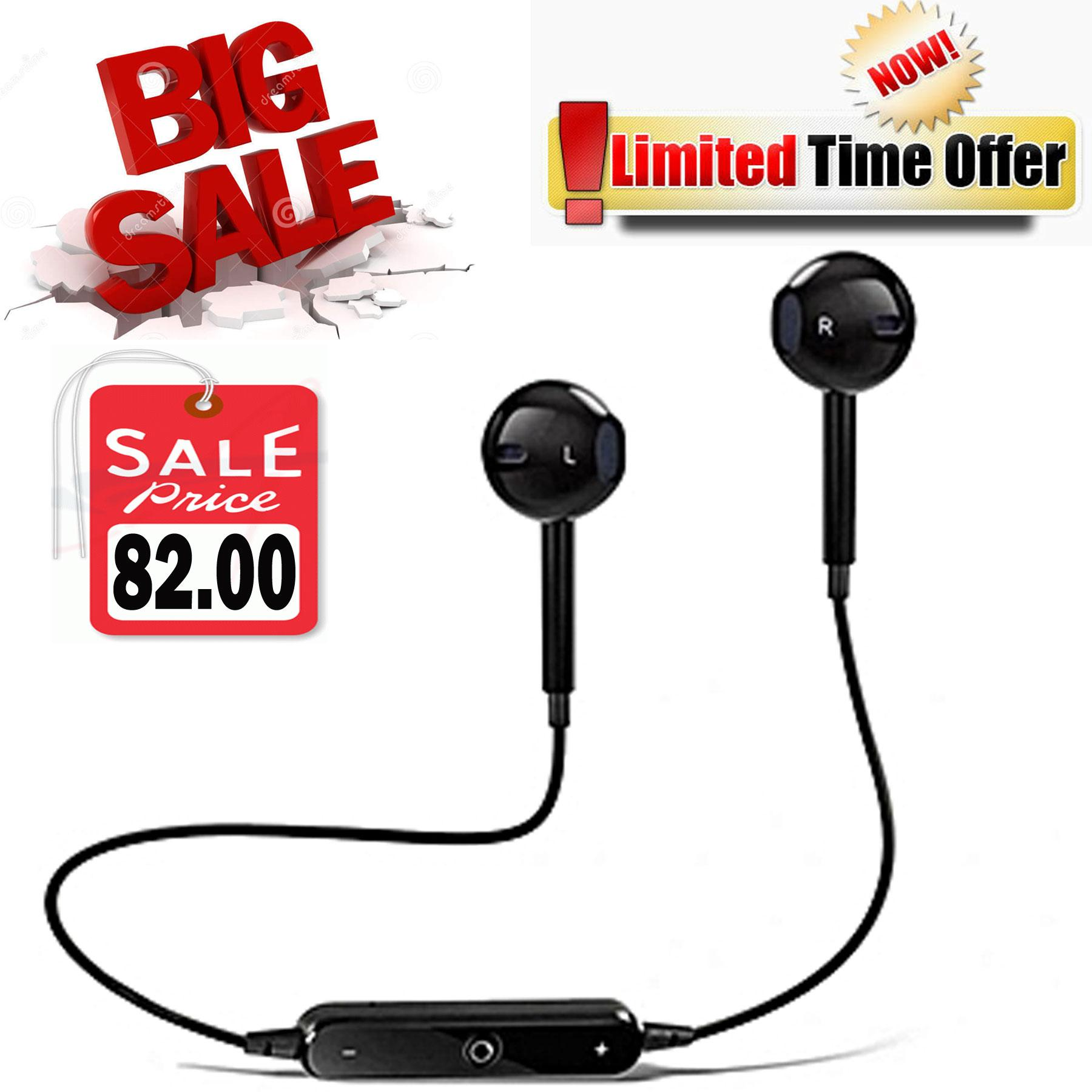 S6 4 1 Bluetooth Sport Wireless Headset BIG Sale (Black)