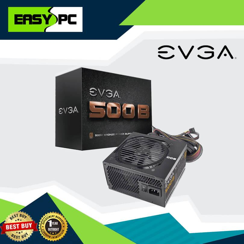 EVGA Power Supply 500BV watts 80plus Bronze, 500W True Rated Power Supply  80 plus Rated PSU for Micro ATX and ATX casing, For Gaming and for Video