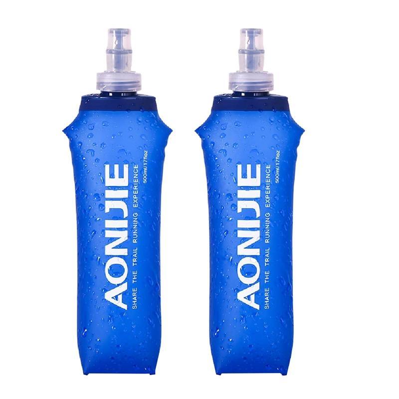 Folding Collapsible Soft Flask Water Bottle Running Jogging Hydration Bladder