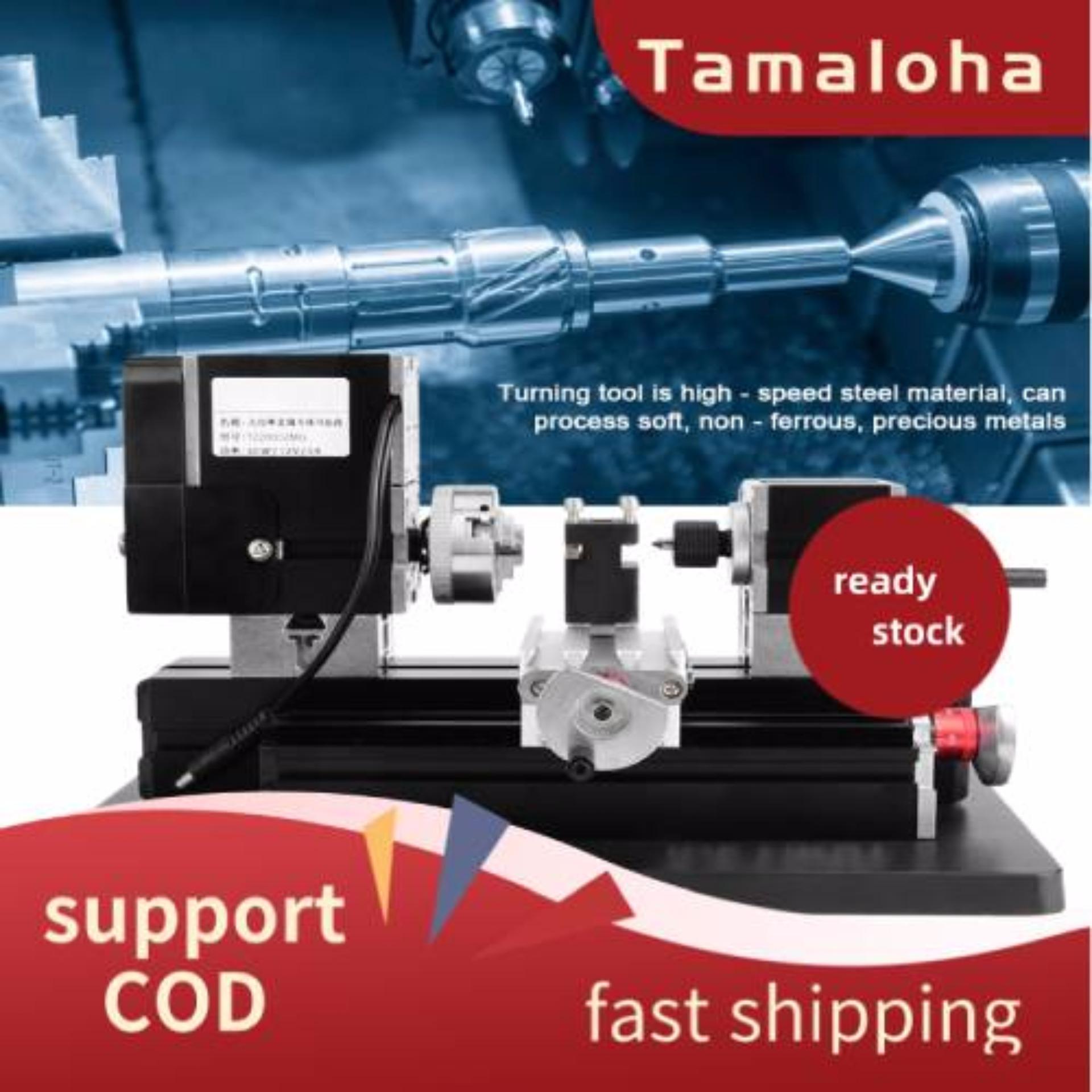 8 in 1 Mini Lathe Z8000M 24W 20000rpm Metal Lathe Machine DIY Lathe Kit 110-240V US Power Cord