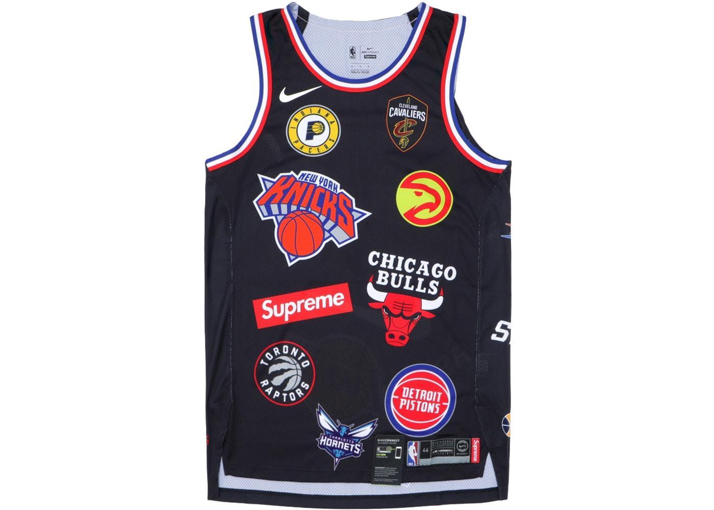 Offer Khuyến Mãi Bóng Rổ NBA SUPREMEˉ JERSEY 94 Màu Đen