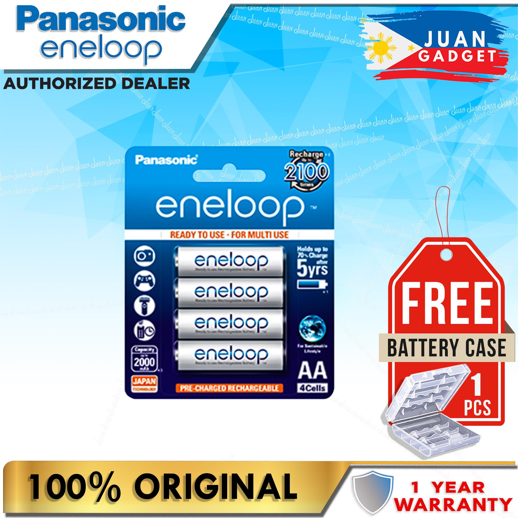 Panasonic Eneloop Bk 3mcce 4bt Aa Rechargeable Battery Pack Of 4 (white) By Juan Gadget.