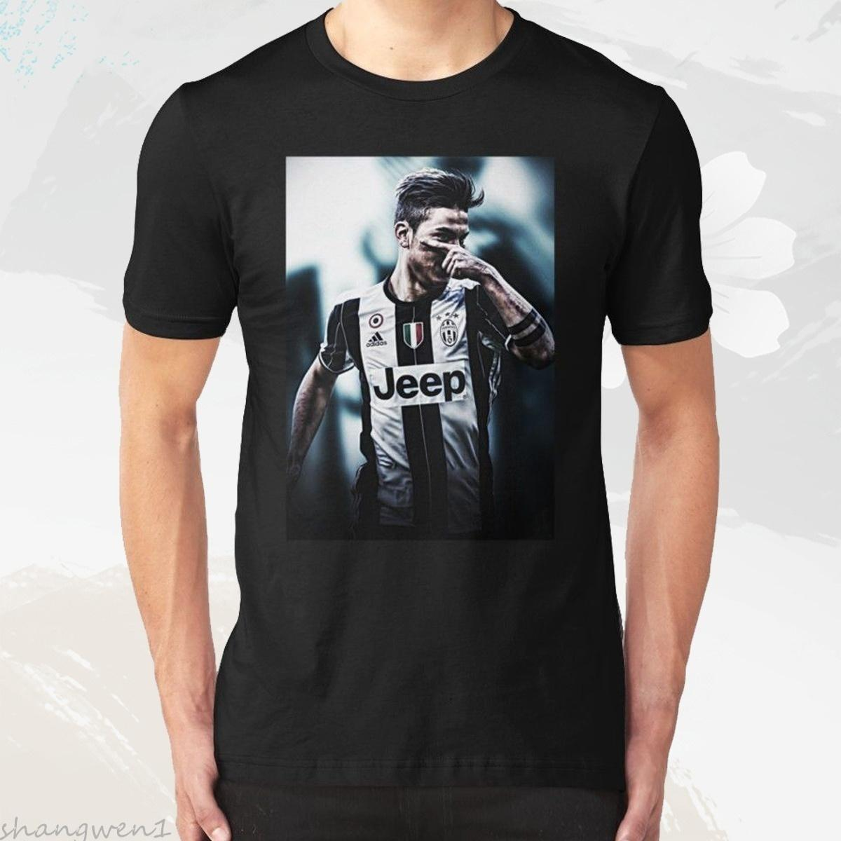 e0f674a60 Juventus Football Club S.P.A Paulo Dybala Tee Shirt Men s Round Neck Short  Sleeves Cotton T-