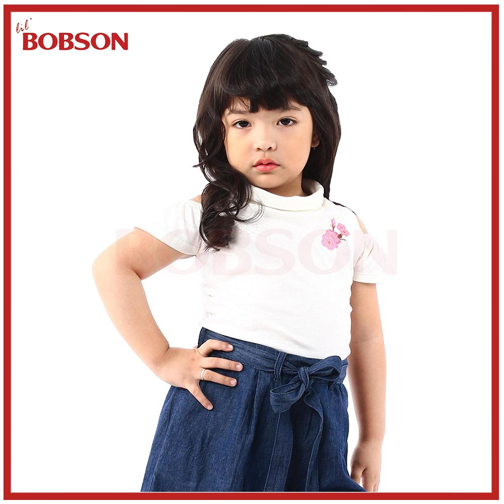 Lil Bobson Turtle Neck Off Shoulder Blouse (white) By Lil Bobson Ph.