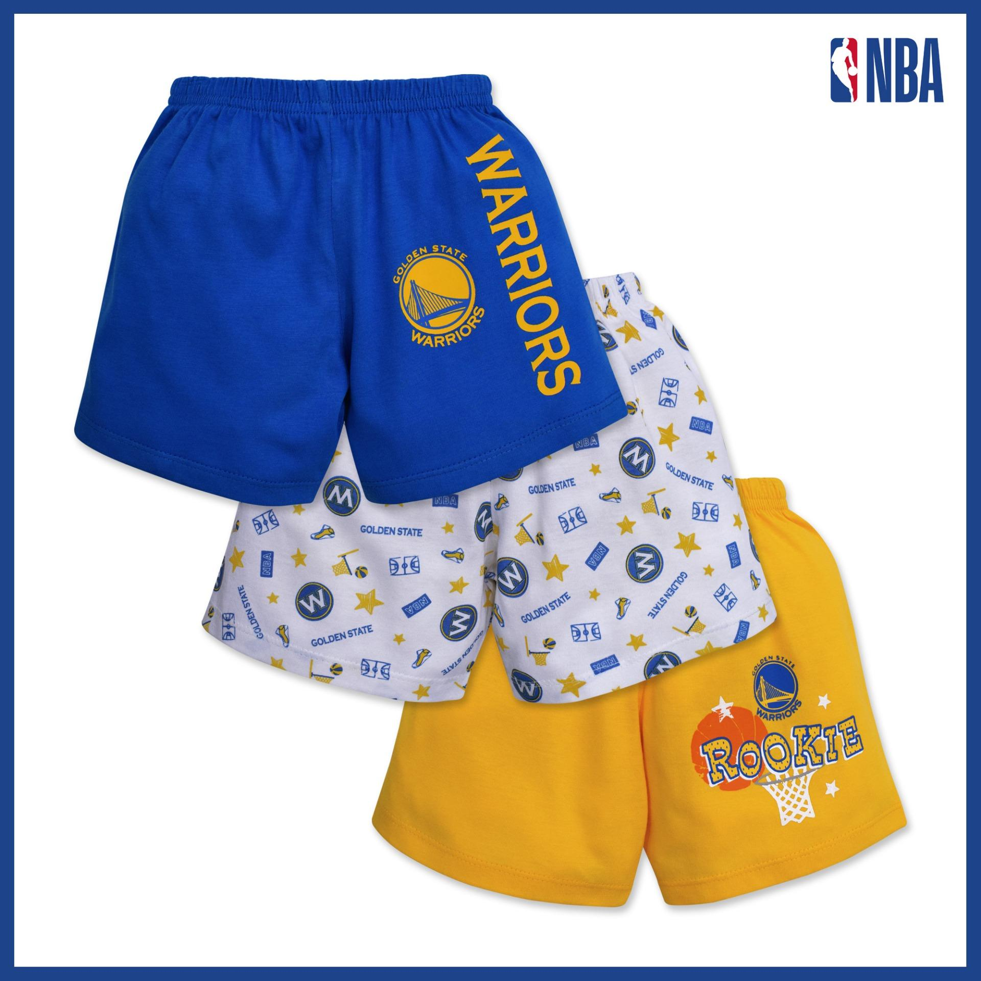 Nba Baby - 3-Piece Shorts (rookie - Warriors) By Cotton Stuff.