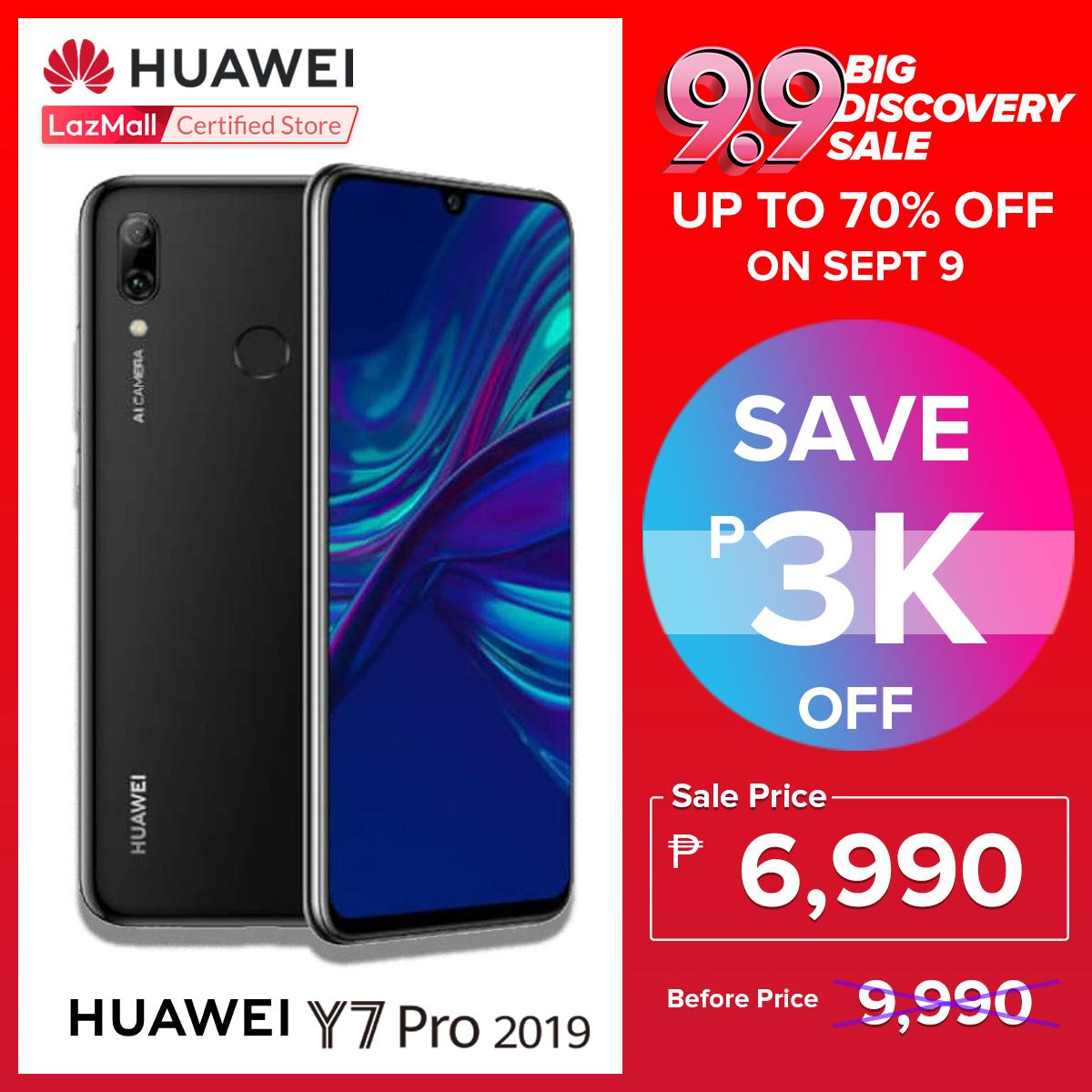 Huawei Y7 Pro 2019 32GB/3GB with Free Huawei Stainless Steel Thermos