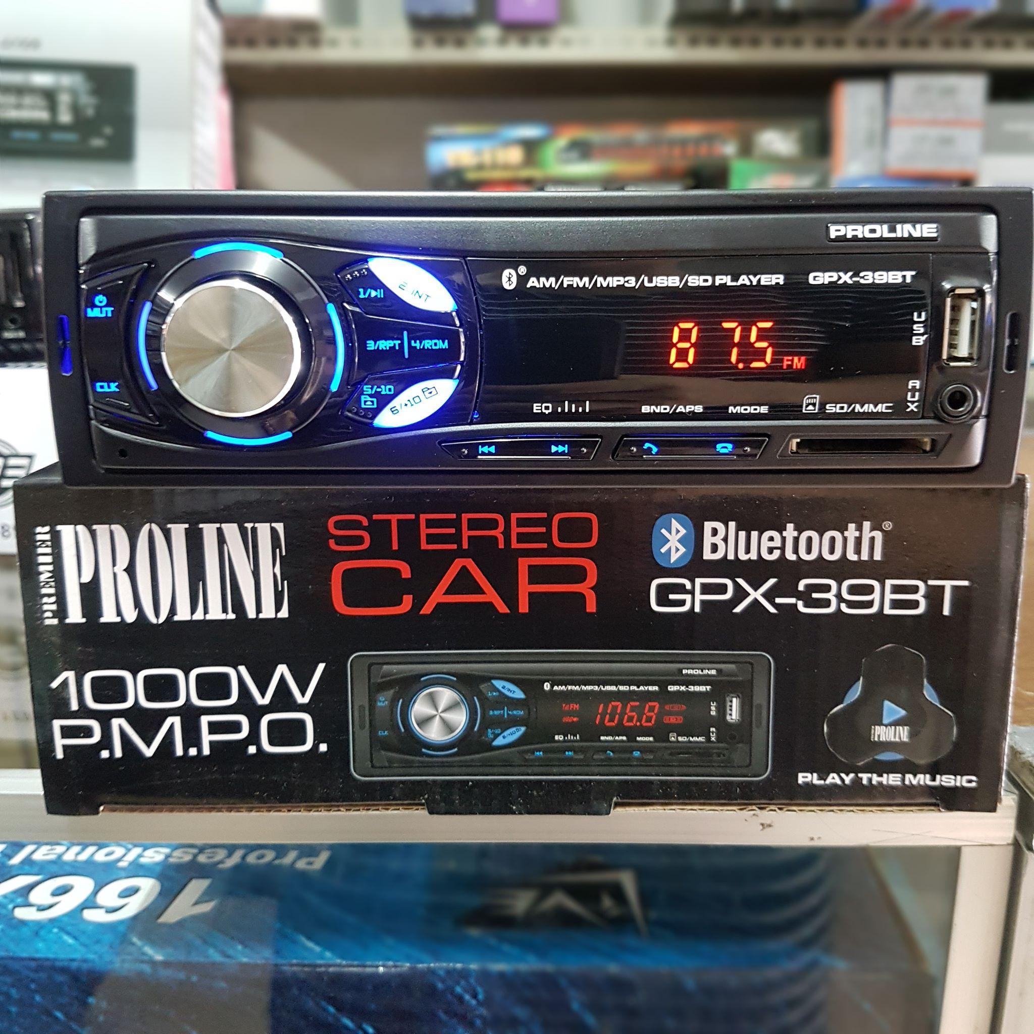 Proline GPX-39BT Car Stereo w/ AM/FM, Bluetooth, USB, MP3 Player
