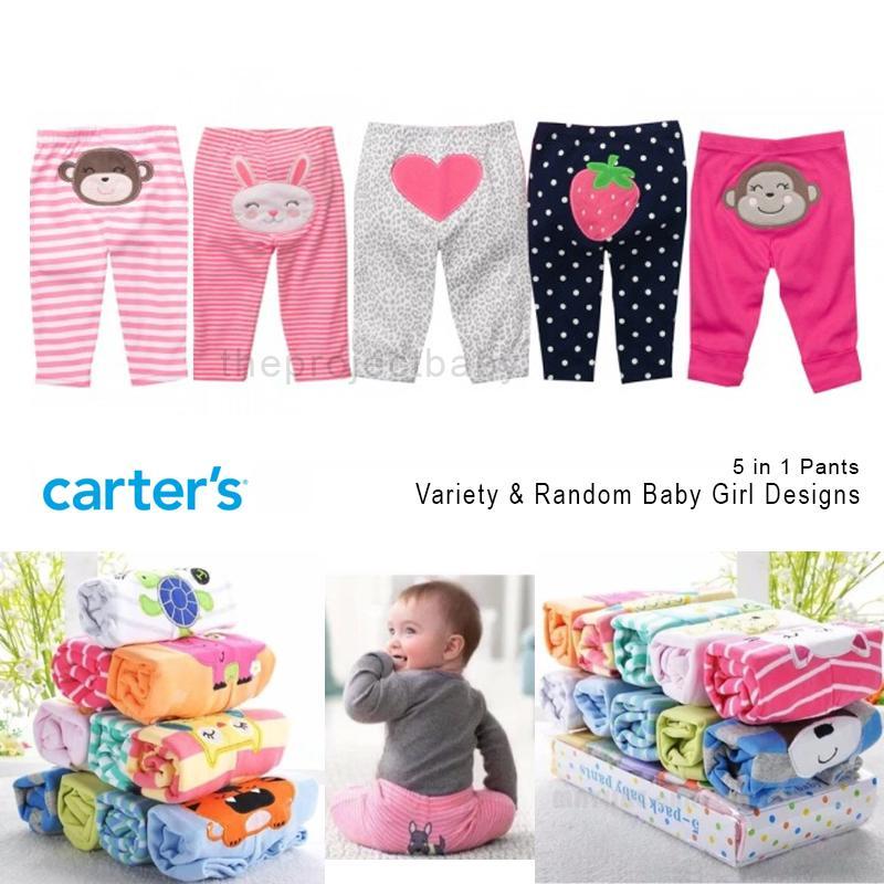 3c0e6849e 5 pcs set Carter's bluefly baby GIRL pants bottom pajamas 100% cotton  sleepwear carters