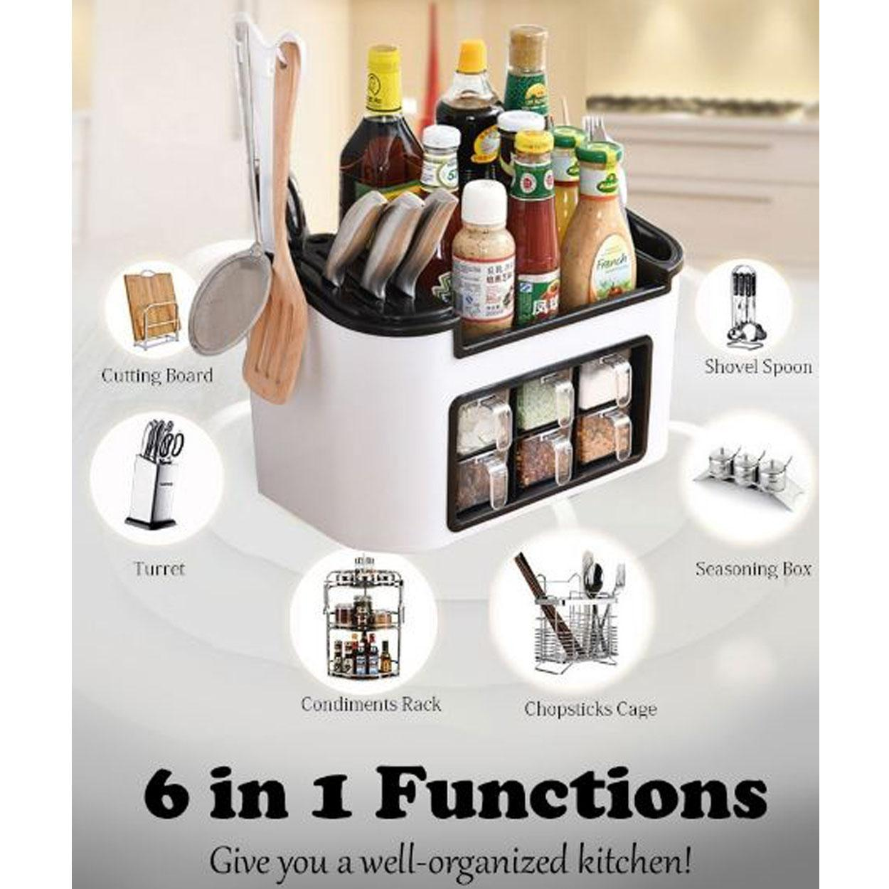 All In 1 Kitchen Organizer with Spice Rack Container