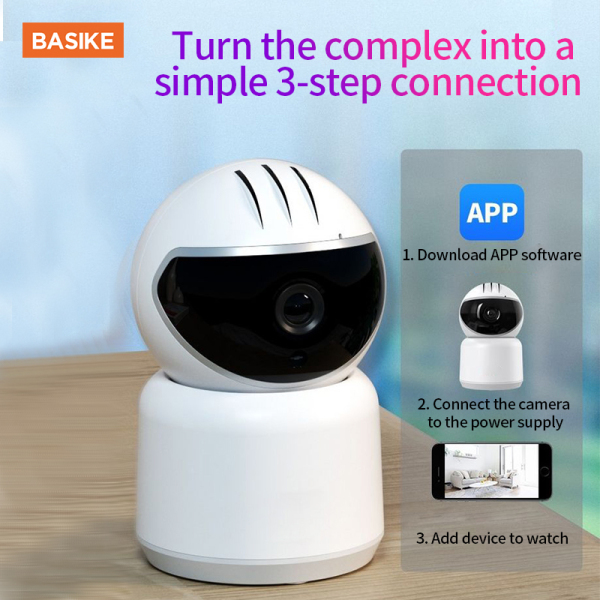 BASIKE WIFI IP Smart Camera TV Camera 360 Degree 1080P Wireless Home Security Upgrade Smart Motion Tracking Night Vision HD Monitor Support Android / iOS / PC viewing.