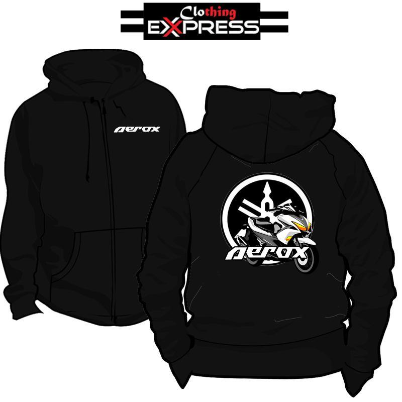 Yamaha Aerox Customize Clothing Express Hoddie Jacket with Zipper e7d40f7294922