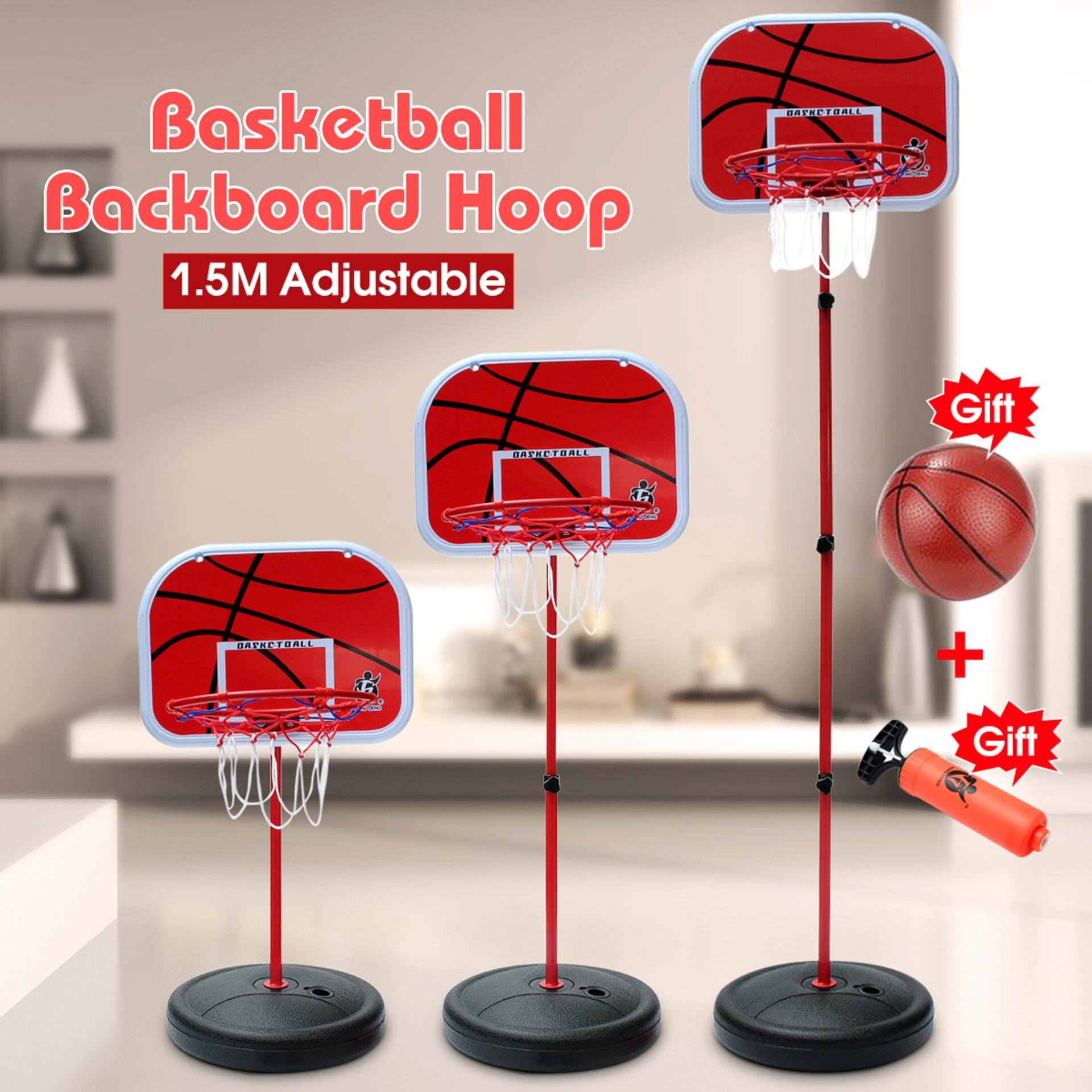 6e5431ea0d5 Height Adjustable Kids Mimi Basketball Hoop Rim Net Set Backboard Basket  Ball