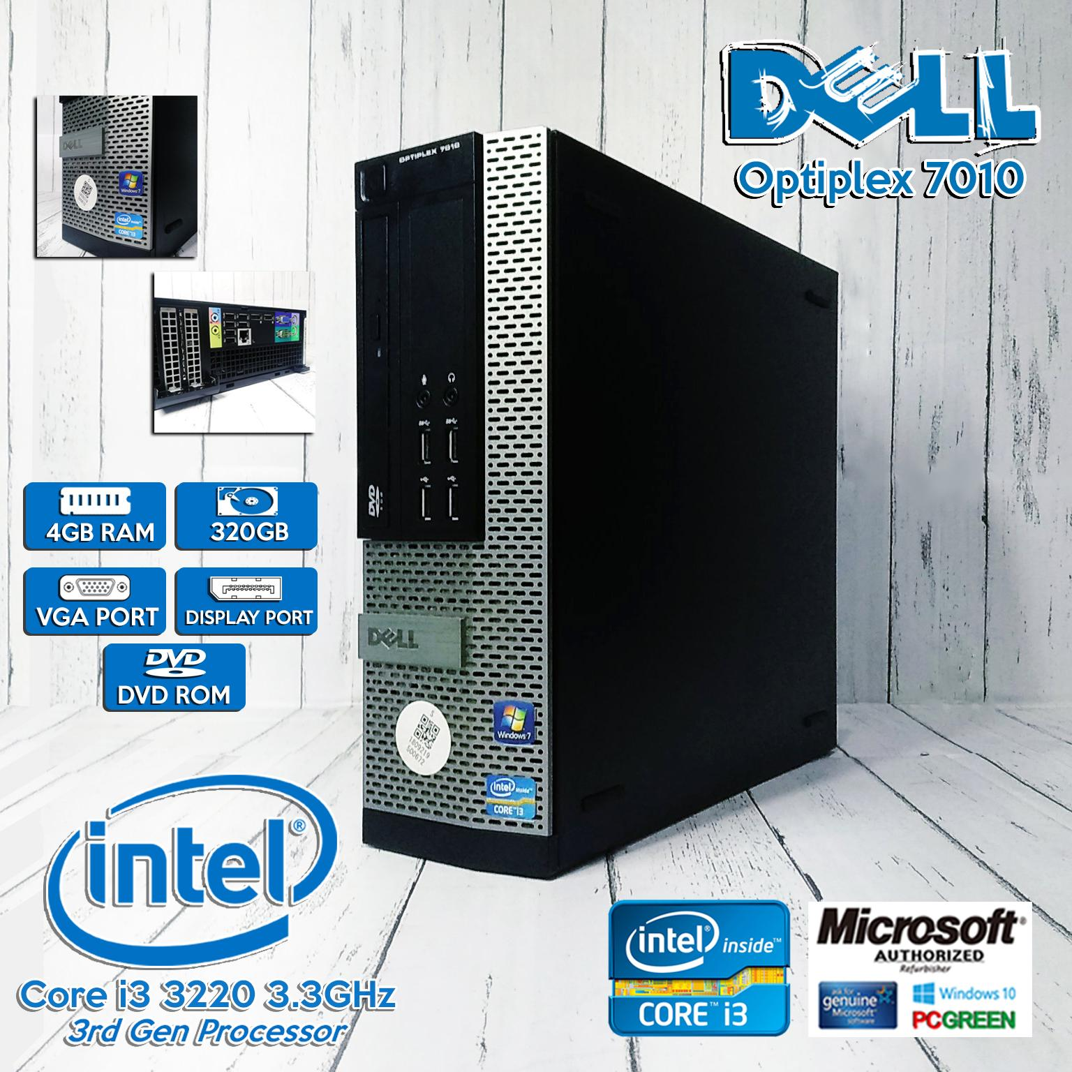 [Desktop] CPU Dell Optiplex 3010 Intel Core i3-3220 3 3Ghz(i3-3rd gen) /  4GB / 320GB With License Windows 10 (Ready to use)