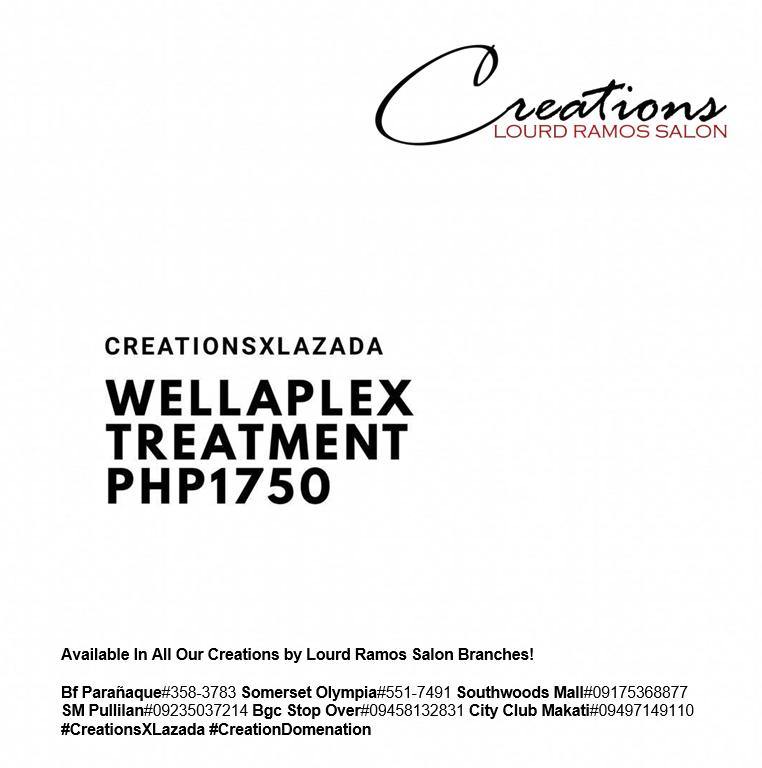 Wellaplex Treatment Voucher By Creations By Lourd Ramos Salon (bgc).