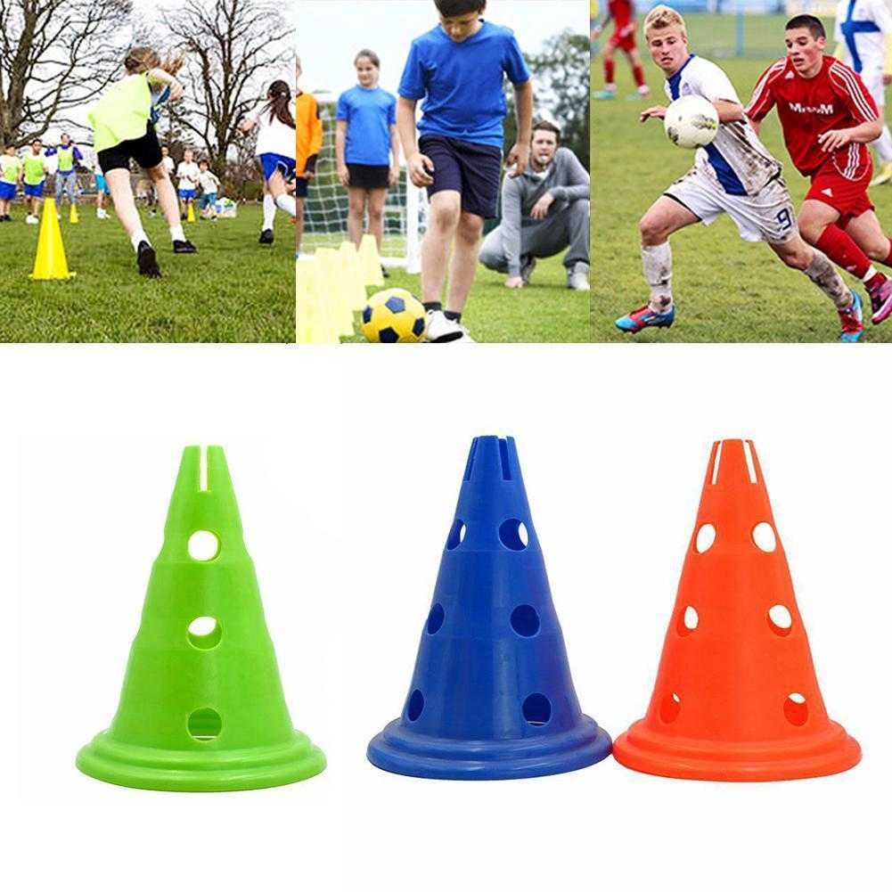 5PCS/SET 30cm hole round bottom mark barrel obstacle hurdle football cone training triangle frame equipment Y4Q3