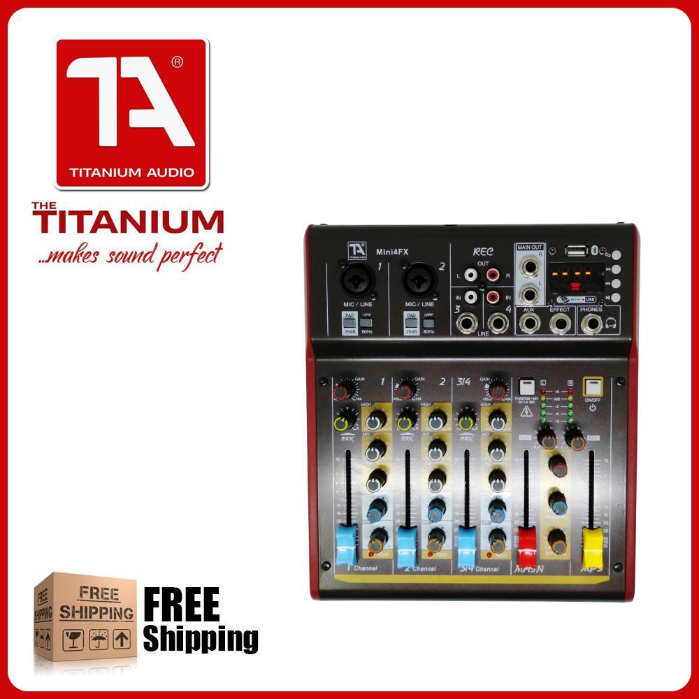 Titanium Audio Mini4FX Mixer 4 Channel Professional Mixing Console
