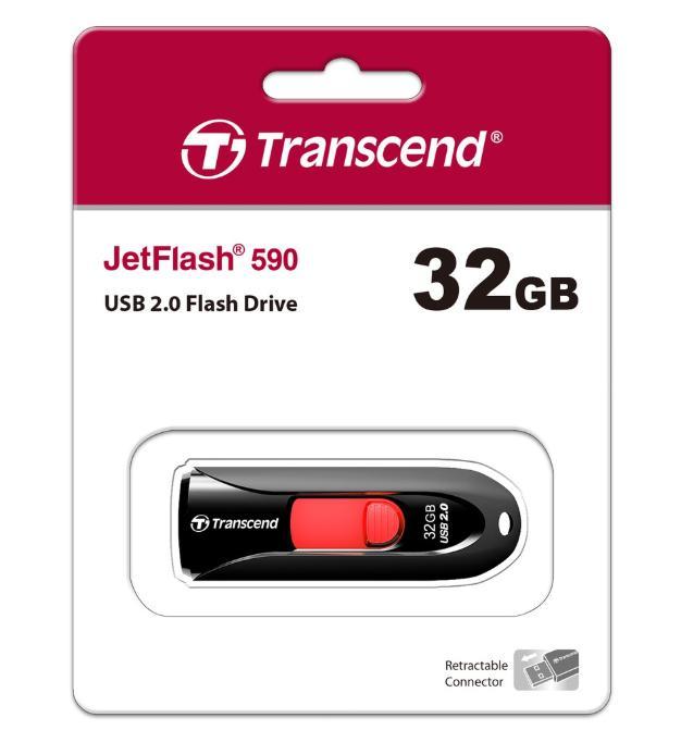 Transcend JetFlash590K 32GB USB Flash Drive(Original)