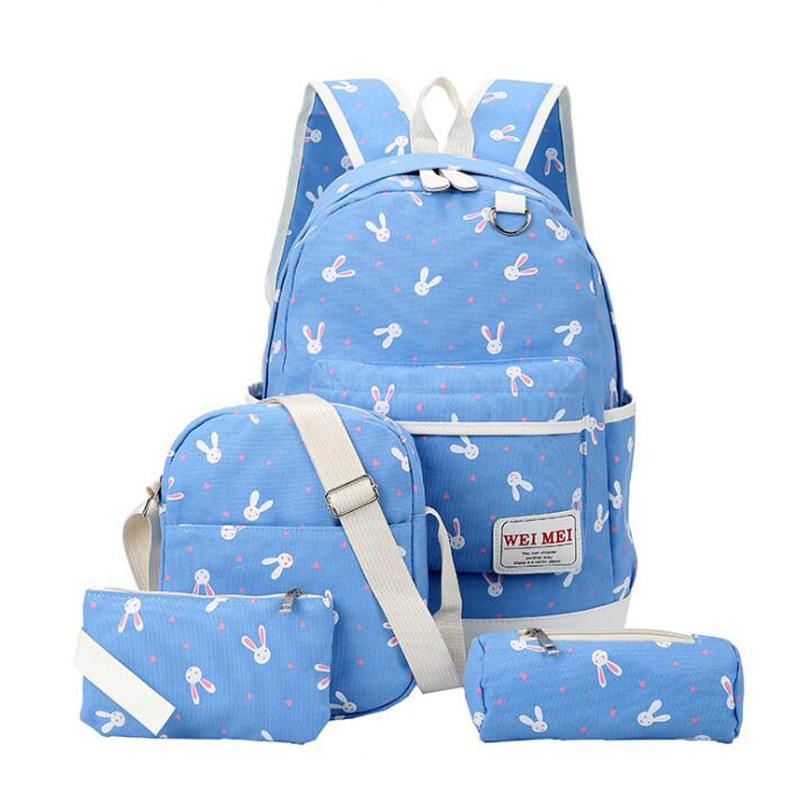 4 In 1 Korean Backpack Bunny Design 010 By Surfgear.