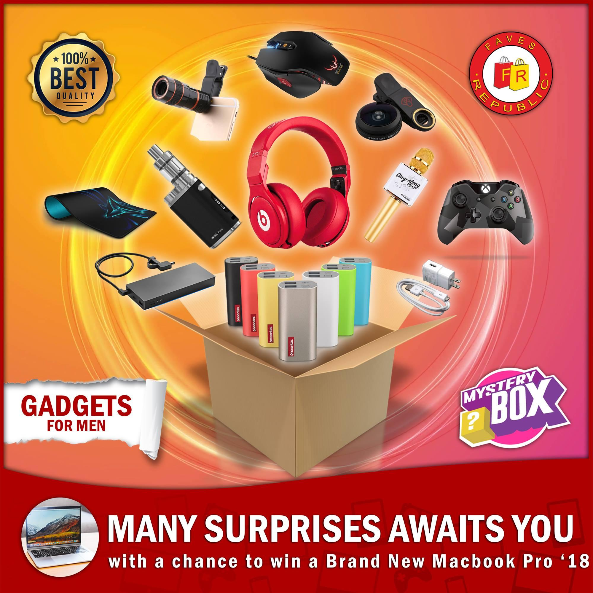 Mystery Box Gadgets And Get A Chance To Win Cool Prizes Including Brandnew Macbook Pro 18 - 3 By H&m Merchandise.