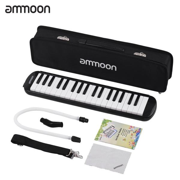 Sunshine Girl-ammoon 37 Keys Melodica Pianica Piano Style Keyboard Harmonica Mouth Organ with Mouthpiece Cleaning Cloth Carry Case for Beginners Kids Musical Gift