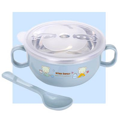 Stainless Steel Er Tong Wan Shatter-Resistant Heat Resistant Cartoon Double Handles With Lid + Spoon Rice Bowl Childrens Baby Food Supplement Can Ju Tao By Taobao Collection.