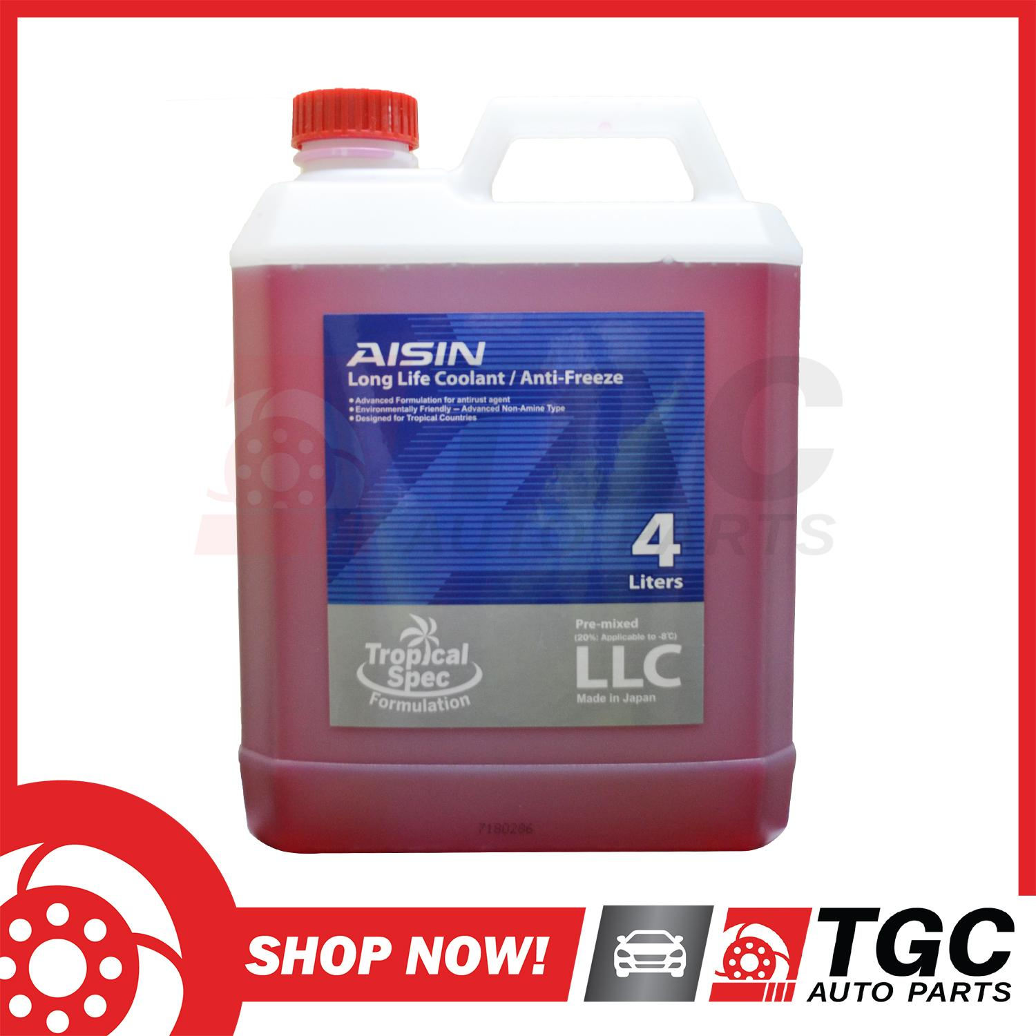 AISIN Long Life RED Coolant/Anti-Freeze Tropical Spec Formulation Pre-Mixed  Made in Japan 4Liter