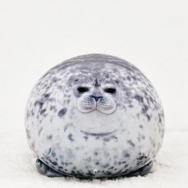 60Cm Chubby Blob Seal Plush Pillow Animal Toy Cute Ocean Animal Stuffed Doll
