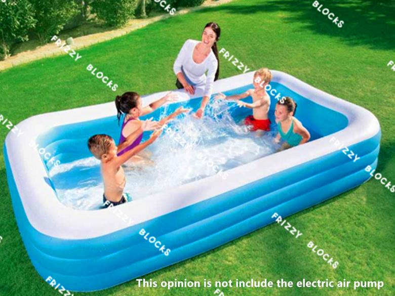 ☆cod Bestway 3l 54009 Deluxe Family Inflatable Pool 3.05*1.83*0.56m By Frizzy Blocks.