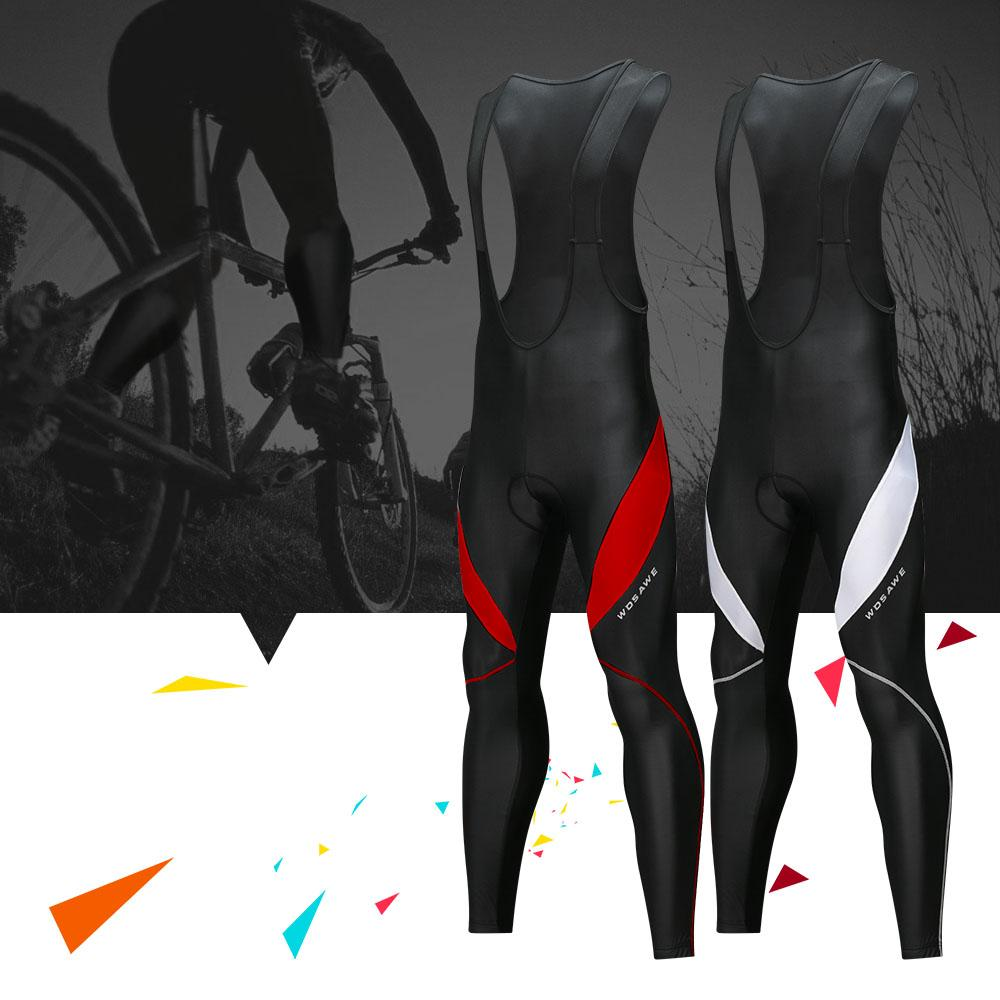 Cycling Bib Trousers Autumn Winter Thermal 3D Gel Padded Cycling Bib Pants Mountain Bike Pants Bicycle Tights