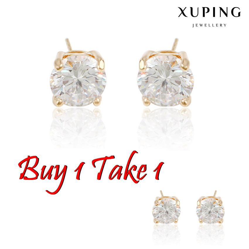1918f7ff7 Buy 1 Take 1 - 92285 Xuping Gold Plated White Single Stone Stud Earrings