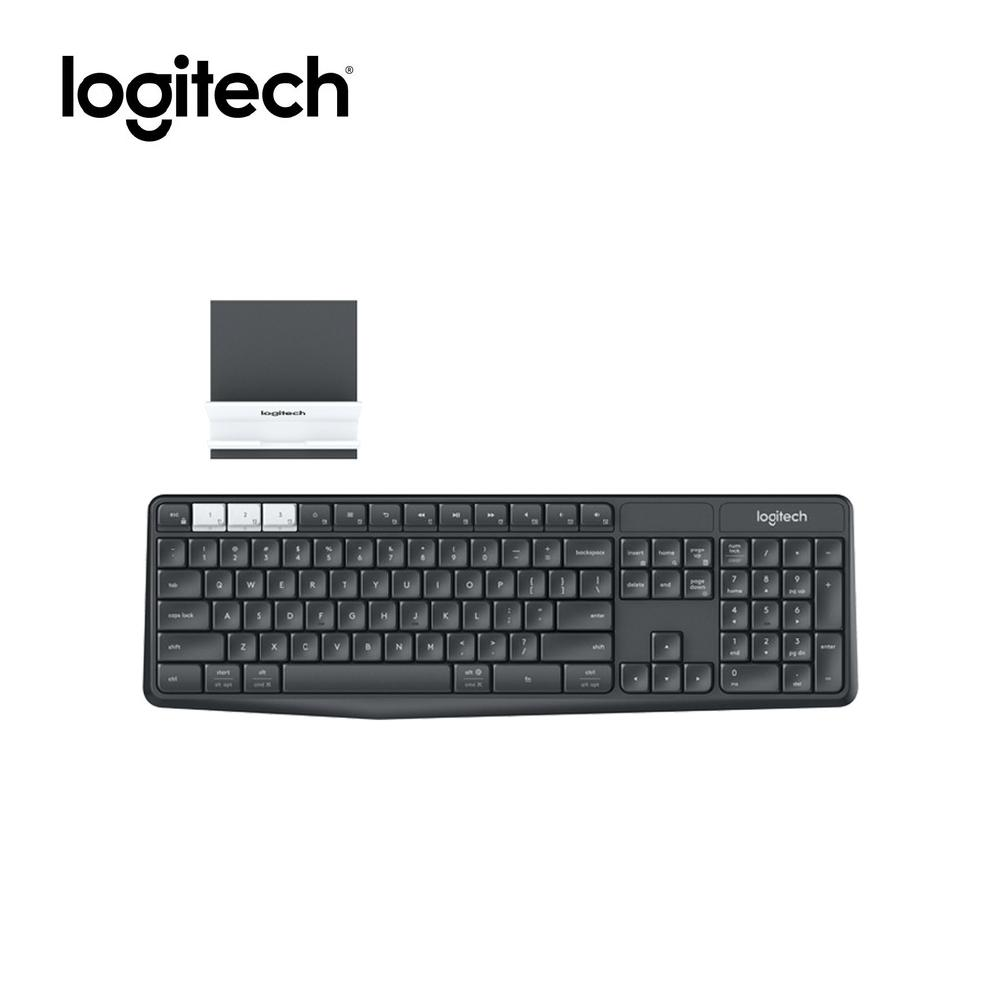 Logitech K375S Multi-Device Wireless Keyboard and Stand Combo, Universal  Phone and tablet stand, Bluetooth Smart technology, Logitech Unifying