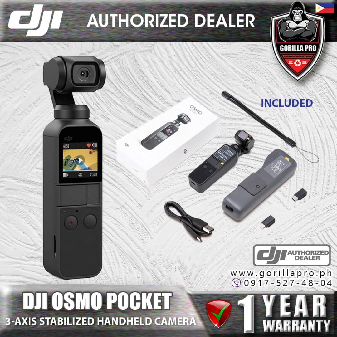 DJI Osmo Pocket 3-axis Stabilized Handheld Camera Compatible with  Smartphone 4K 60fps Video Mechanical Stabilization Lightweight HERO 7