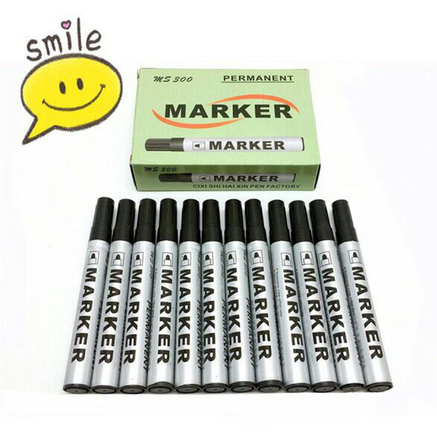 Marker School Supplies Permanent Marker 12pcs/1box By-300 By Movall.