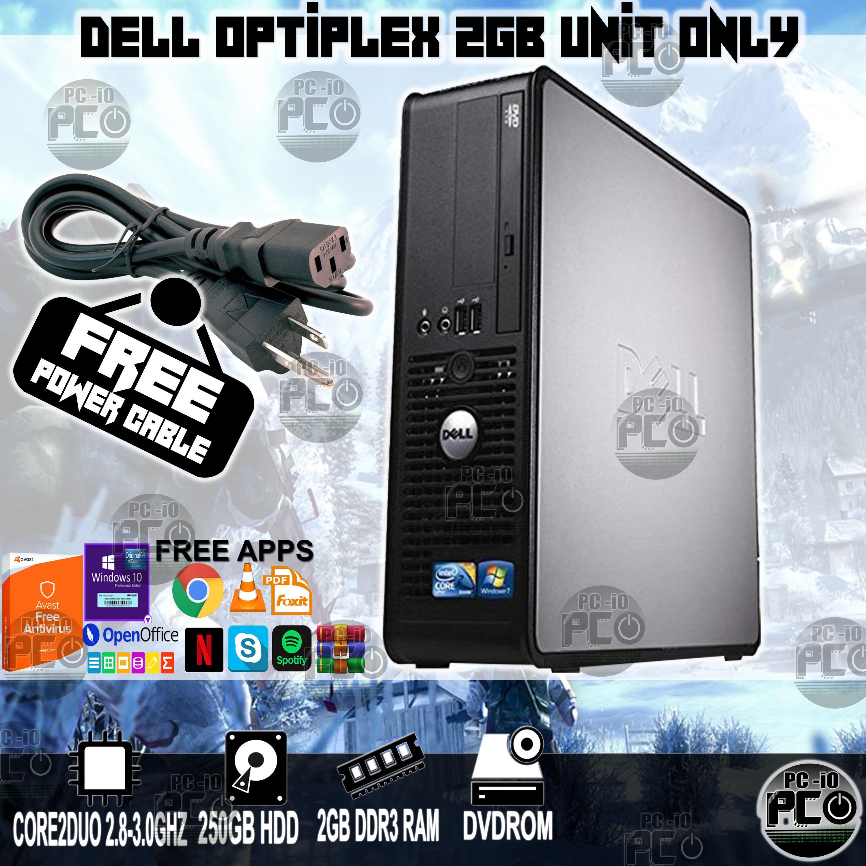Dell Optiplex 780 SFF Core2duo 2GB DDR3 250GB HDD Desktop Unit Only w/ Free  Power Cord