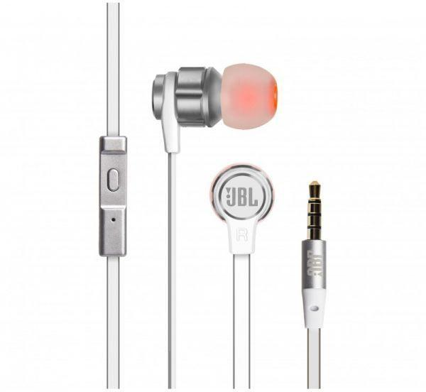 JBL T180A (Silver) Wired headset In ear bass Earphone Mobile phone Sport Earphones with