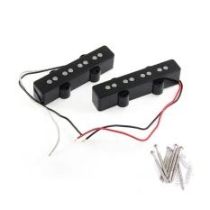2Pcs 4 String Bridge Pickup Black for Jazz Bass Replacement - intl
