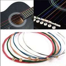 Sky Wing Acoustic Guitar Strings Guitar Strings One Set 6pcs Rainbow Colorful Color Chic Sale Multicolor - Intl By Sky Wing.