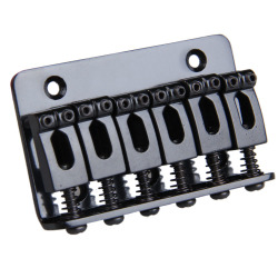 Black 6 Saddle Hardtail Bridge Top Load 65mm Electric Guitar Bridge (Intl)