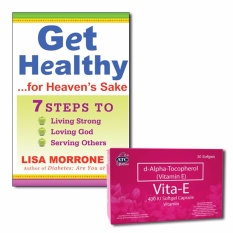 Book: Get Healthy For Heavens Sake With Free Vitamin E 30 Softgels By Lifebooks.