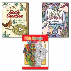 Bundle Of 3 Inspiring Coloring Books For Adults
