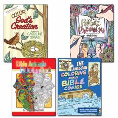 Bundle Of 4 Bible Coloring Books For Adults