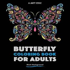 Butterfly Coloring Book For Adults Black Background With Volume 3