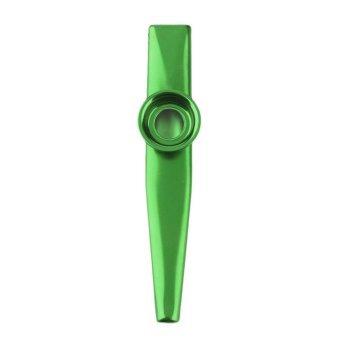 CHEER Metal Kazoo 4 Colors Flute Diaphragm Harmonica Gift For Kids Lover Christmas Green - intl