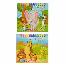Colouring Book At The Zoo Color By Numbers Set Of 2