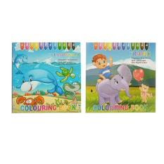 Colouring Book By Numbers Educational Childrens Coloring Set Of 2 Figure Ocean