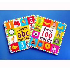First 100 Words Book Set With Colors Abc Numbers Book - Educational Toddlers Book By Christine Gutierrez-Eliseo.