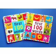 First 100 Words Book Set With First 100 Animals - Educational Toddlers Book By Christine Gutierrez-Eliseo.