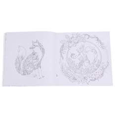 HengSong Secret Garden An Inky Treasure Hunt And Coloring Book Enchanted Forest 24 Pages English
