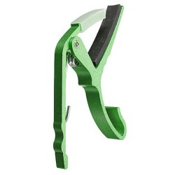 HKS New Aluminum Electric Guitar Capo Trigger Key Clamp Change Single-Handed Green - Intl