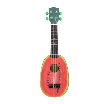 "HLY 21"" Ukelele 4 Strings Colorful Lovely Watermelon Basswoodstringedmusical Instrument Christmas Gift Present - intl"
